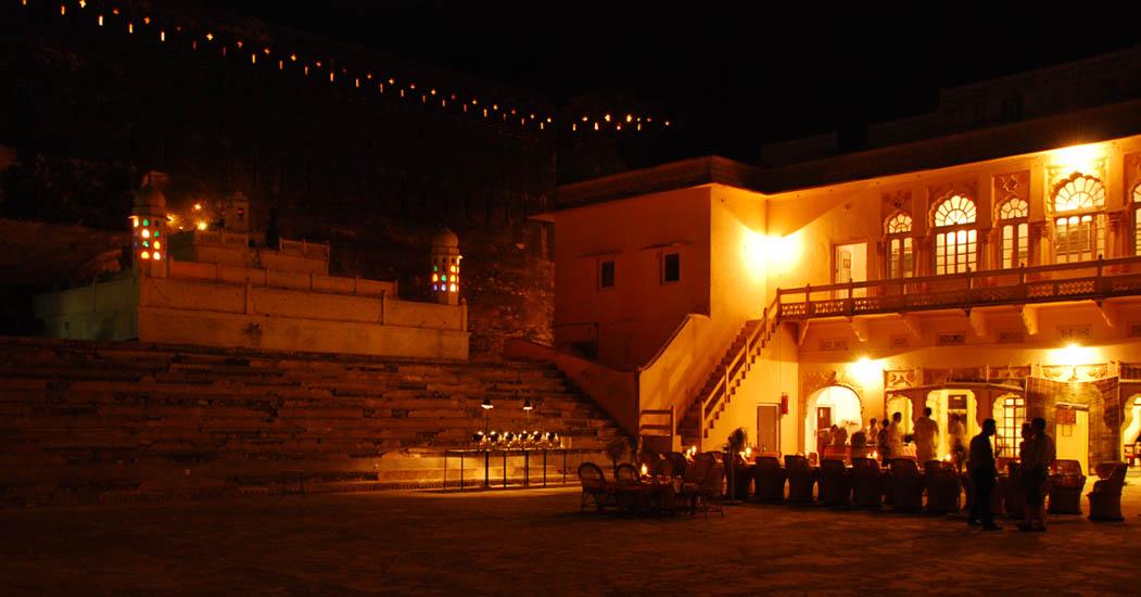 La terrasse où nous avons pris le dîner