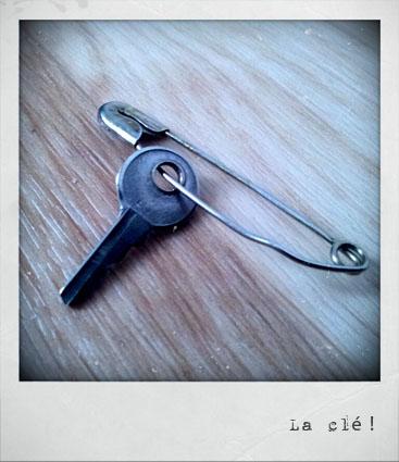 La clé retrouvée !